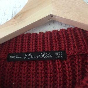 Zara Sweaters - Zara knit red sweater